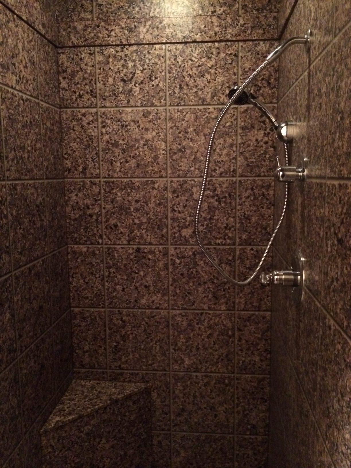 Tile Look Marble Shower